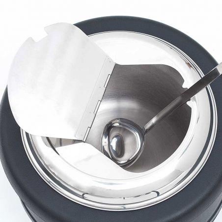 Kociołek elektryczny do zup 10 l z chochlą | Stalgast 432101