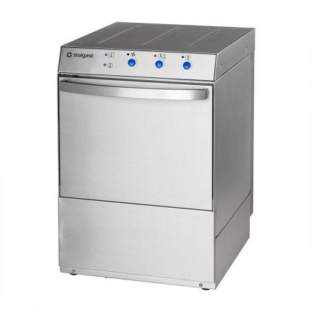 Zmywarka do szkła 400x400 z dozownikiem płynu myjącego i pompą zrzutową | Stalgast 801401